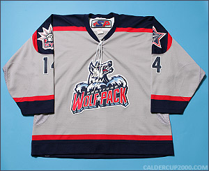 2003-2004 game worn Bobby Andrews Hartford Wolf Pack jersey
