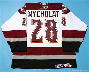 2005-2006 game worn Lawrence Nycholat Hershey Bears jersey