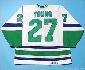 1980s game worn Scott Young Hartford Whalers jersey