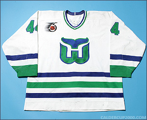 1991-1992 game worn Rob Brown Hartford Whalers jersey