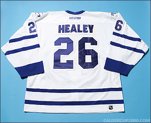 2001-2002 game worn Paul Healey Toronto Maple Leafs jersey