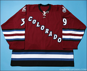 2002-2003 game worn Jeff Paul Colorado Avalanche jersey