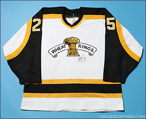 1995-1996 game worn Stefan Cherneski Brandon Wheat Kings jersey