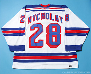 2002-2003 game worn Lawrence Nycholat New York Rangers jersey