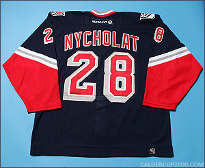 2003-2004 game worn Lawrence Nycholat New York Rangers jersey