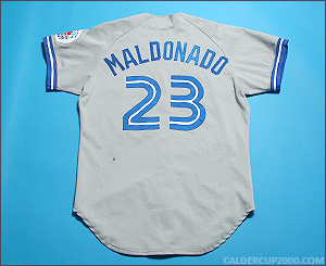 1991 game worn Candy Maldonado Toronto Blue Jays jersey